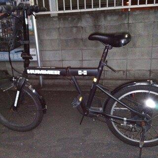 HUMMER 折りたたみ自転車 20インチ 中古 前カゴ付き