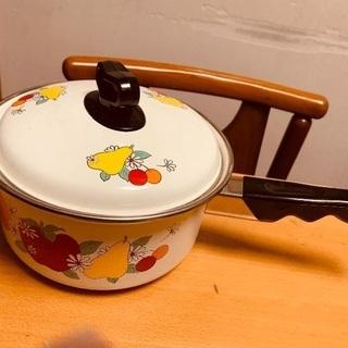 お値下げ 未使用☘ホーロー片手鍋☘