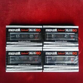 マクセル・カセットテープ60分新品未開封4本セットレア物