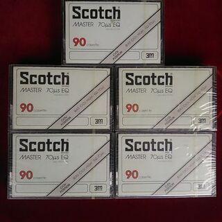 スコッチ・90分カセットテープ5本セット新品未開封レア物