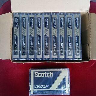 スコッチ・46分カセットテープ10本セット新品未開封レア物