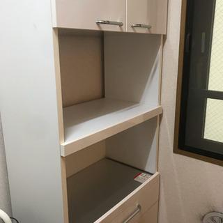 【受取者決定】レンジボード 食器棚 炊飯器台 美品