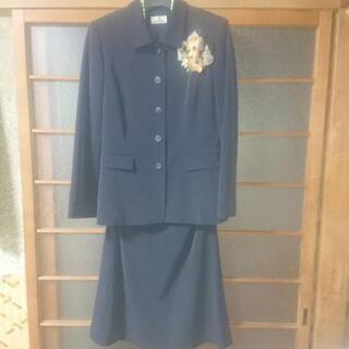 値下げ:紺スーツM-L ストレッチ