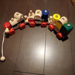 木製おもちゃ【汽車】