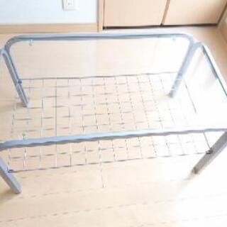 ガラステーブル(マガジンラック付き) - さいたま市