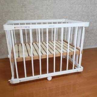 ファルスカミニベビーベッド(ホワイト)+添い寝安全ベルト