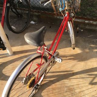自転車 空気なし 26インチ 使用感あり