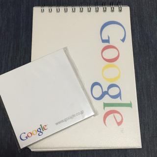 Google ロゴ入りノート&付箋セット【非売品】