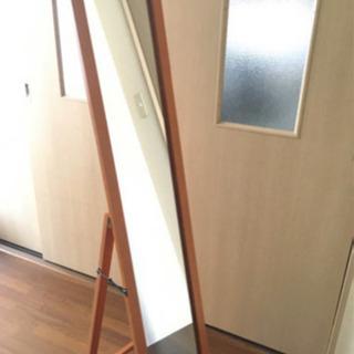 【美品】コンパクト スタンドミラー 全身鏡 姿見 壁掛け
