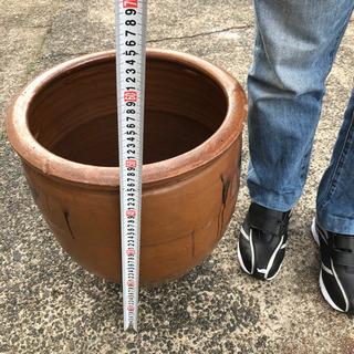 漏れ・口にカケあり◆中型◆水甕◆壺◆メダカや水蓮鉢、傘立てとして...