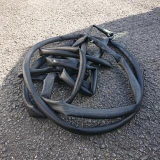 自転車の古チューブ 五本セット