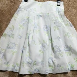 【新品】花柄 ボイル 薄水色 スカート Sサイズ