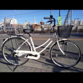 白いフレームがきれいな スタンダード26型中古ファミリーサイクル