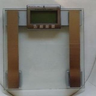 ⭕️体脂肪計付強化ガラス体重計 体重体組成計 HCF-3C