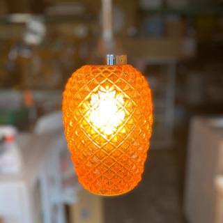 昭和レトロ ペンダントライト パイナップル型 お洒落な照明器具