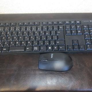 【値下】ワイヤレスキーボードとワイヤレスマウスのセット 中古