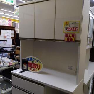 0113-03  3面食器棚 レンジボード 100幅 福岡…