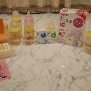 授乳一式セット+ピジョン哺乳瓶四本+煮沸セット+粉ミルクケース ...