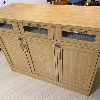 カウンターテーブル キッチンカウンター 木製 カントリー