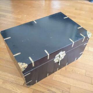 韓国風収納ケースソファーテーブルセンターテーブル 真鍮の金具 鍵...