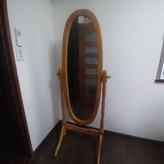 楕円形の姿見 全身鏡