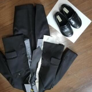 110 cm  フォーマルスーツ、靴、シャツ二枚
