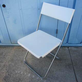 折りたたみイス ホワイト IKEA製