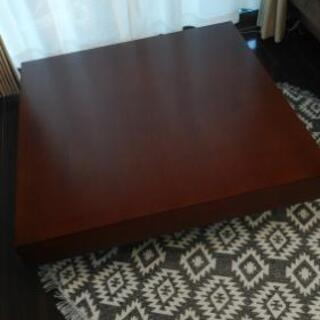 アルモニア ローテーブル 正方形 ブラウン