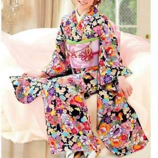 新品 洗える振袖セット 着物・帯揚げ・帯締め・重ね衿 セット