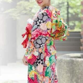 新品 人気の日遊美振袖セット 着物・帯揚げ・帯締め・重ね衿 セット