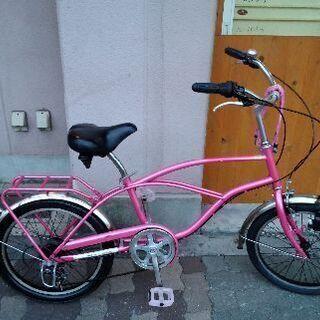 20吋 ピンク色のミニビークル 外装6段
