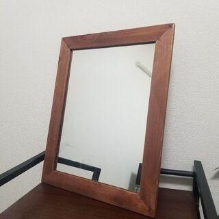 【急募】47×30cm木枠の大判ミラー