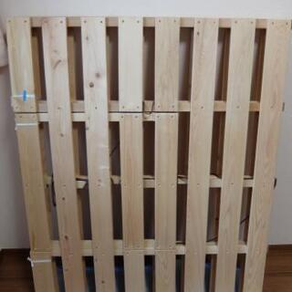 【受け渡し者確定】布団干し機能付き すのこベッド・セミダブルサイズ【桧(ひのき)】 − 東京都