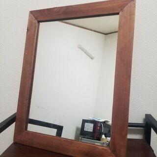 【急募】木枠ミラー(48×38cm)