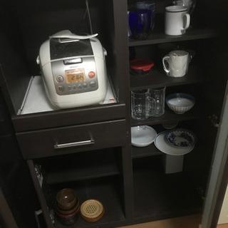 レンジ台 食器棚 レンジラック - 東大阪市