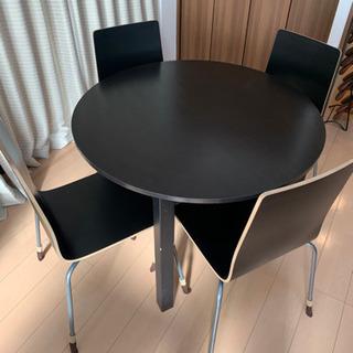 IKEA リビングダイニング 丸テーブル 椅子4脚セット 合計2セット - 大阪市