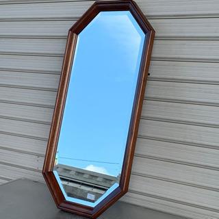 格安で!壁掛け ミラー◇鏡◇化粧鏡◇ナラ材◇木枠◇シンプル★