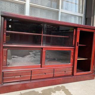 昭和レトロ 木製収納棚  キャビネット