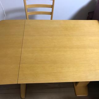 美品★引取希望【テーブル長さ調整可】ダイニングテーブルセット 椅...