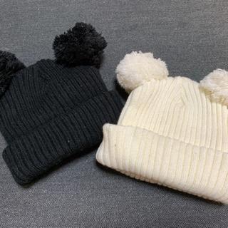 Kids foret  お耳つき 毛糸の帽子  (2セット)