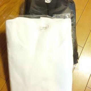 新品未使用✨極厚  裏起毛シャツ(黒二枚、白一枚)三枚セット M