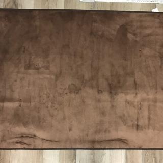 アイリスオーヤマ フランネルラグ130×185 ブラウン