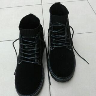 新品未使用ブーツ メンズ スエード リブスタイル 25cm