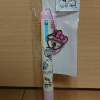 未使用未開封 キティ&ドラえもん 3色ボールペン&シャープペン0.5㎜