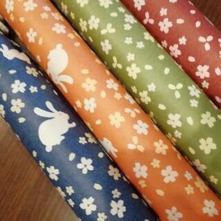うさぎと桜、和柄の包装紙4色セット