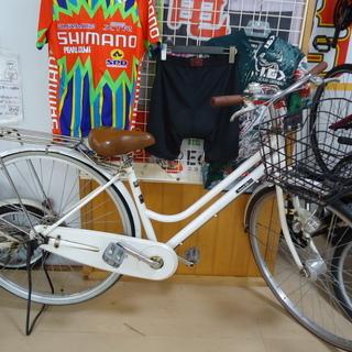 ⑨【エコプラス小倉南店】27インチ ママチャリ 一般車 ホワイト...