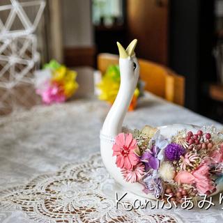 羽ばたけスワン♥お花の翼♥