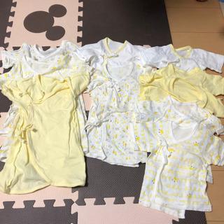 新生児 10枚組フライス肌着セット(冠) 新生児50-60…