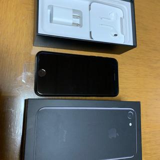 未使用品ブラック128GB iPhone 7 「SIM...