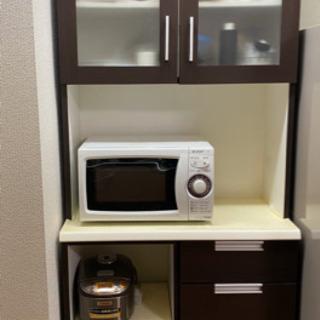キッチンボード 食器棚 ブラウン(取引終了)